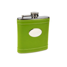 Lime Green Customized Flask