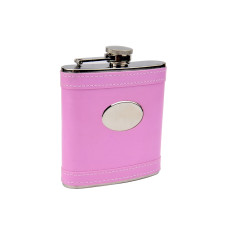 Pink 6oz Flask with Personalization