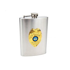 8oz Official Police Hip Flask