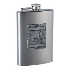 8oz Customizeable Gift Flask for Usher