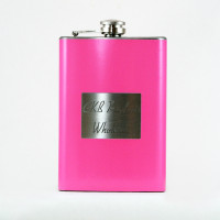 8oz Pink Personalized Hip Flask