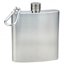 6oz Stainless Steel Flask with Carabiner