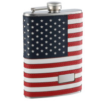 8oz Personalized American Flag Flask