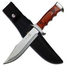 Elk Ridge™ Bowie Knife with Wood Handle