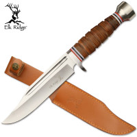 """12"""" Leather Wrapped Handle Dagger with Sheath"""