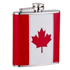 6oz Canadian Flag Flask