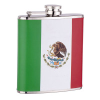 6oz Mexican Flag Flask