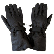 Leather Motorcycle Gauntlet Gloves