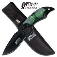 Green Scorpion Fixed Blade Knife by Mtech