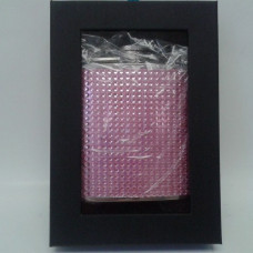 Save 22% - Rhinestone Pink Bead Studded Hip Flask