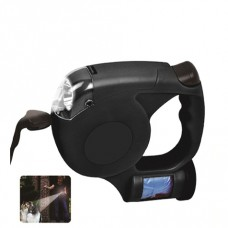 LED Retractable Pet Leash with Waste Bag Dispenser