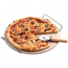 Oven-safe Pizza Stone & Rack