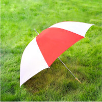 """Barton Outdoors Rain Umbrella - Red and White - 60"""" Across - Rip-Resistant Polyester - Manual Open - Light Strong Metal Shaft and Ribs - Resin Handle - Perfect for 2 People"""