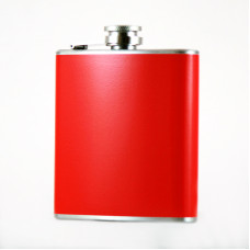 Red Hip Flask, 6oz