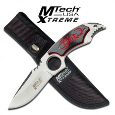 Red Scorpion Drop Point Knife