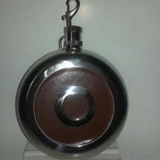 Round Golf Flask with Shot Glass Insert