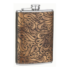 8oz Paisley Design Flask