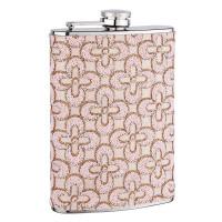 8oz Pink Pattern Flask