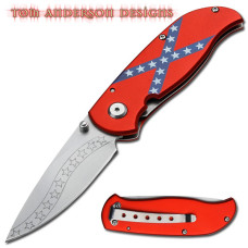Tom Anderson Confederate Flag Folding Knife