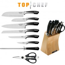 9 Piece TOP CHEF Full Knife Set with Wood Block