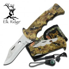 Tactical Folding Knife with Camo Lock Back Handle