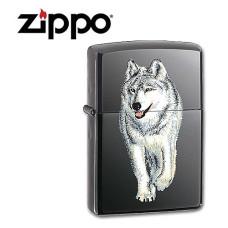 Zippo Lighter, White Wolf