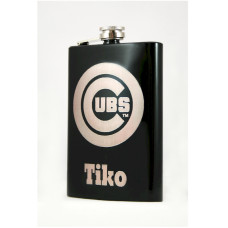 Personalized Powder Coated 8oz Flask