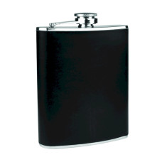 Stainless Steel Flask with Black Wrap
