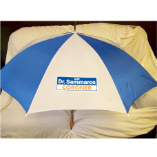 Blue White Umbrella with your Custom Logo