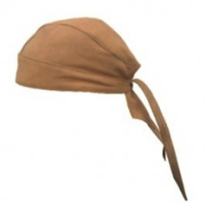 Brown Leather Skull Cap