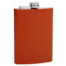 Burnt Orange 8oz Hip Flask