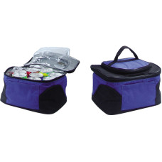 "Lunch Bag - Collapsible - SuperFoam Insulated - Polyester Shell - Holds Up to 9 Soda Cans - Separate Zipper Compartment in Top Flap - Side Pocket - 6"" × 9.8"" × 7.4"""