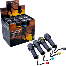 12pc Discount LED Flashlights