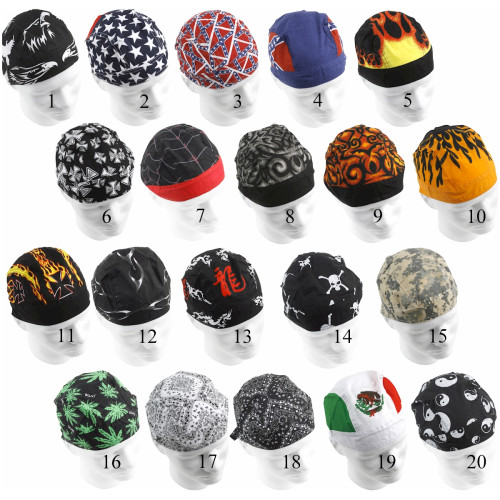 98c035da478 Buy Wholesale Biker Skull Caps made of Cotton - Cotton Skull Caps and Do  Rags