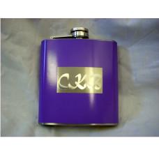 Purple Custom Engraved 6oz Hip Flask