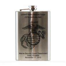 - Laser Engraved 8oz Hip Flask