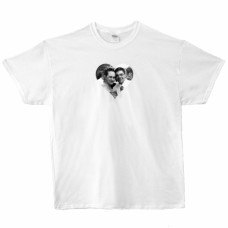 Custom Print White T-Shirt, Large