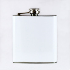 White 6oz Hip Flask