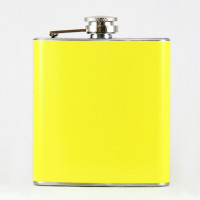 Yellow 6oz Metal Flasks