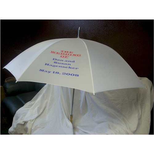 Personalized White Wedding Umbrellas For Weddings Parties