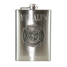 Custom Engraved Firefighter Flask