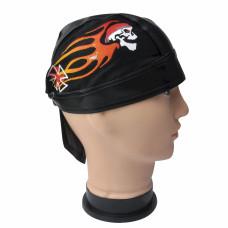 Flaming Skull Biker Do Rag