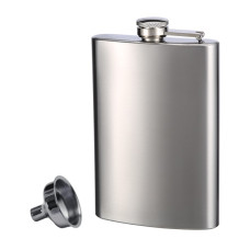 Stainless Steel Flask and Funnel