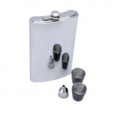 Mirror Polished Giant 64oz Flask