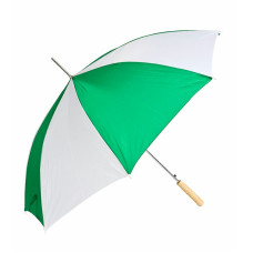 "Barton Outdoors Rain Umbrella - Green and White - 48"" Across - Rip-Resistant Polyester - Auto Open - Light Strong Metal Shaft and Ribs - Resin Handle - Perfect for 1 Person"