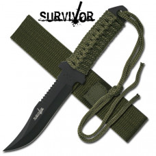 Fixed Black Blade Survivor Knife