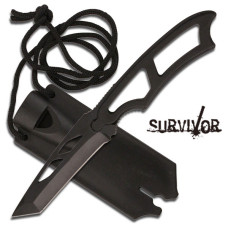 "Survivor Neck Knife 6.75"" Overall Fixed Blade"