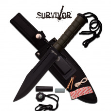 "12"" Survival Knife with Survival Kit"