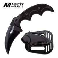 Tactical Karambit - Fixed Curved Blade -by MTech USA
