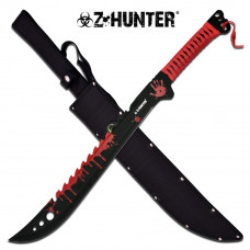 "Z Hunter - Bloodied Machete 25"" Overall Length"